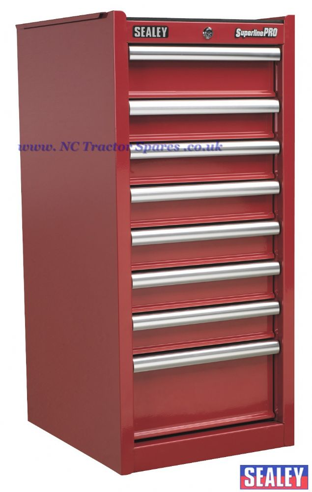 Hang-On Chest 8 Drawer with Ball Bearing Runners - Red